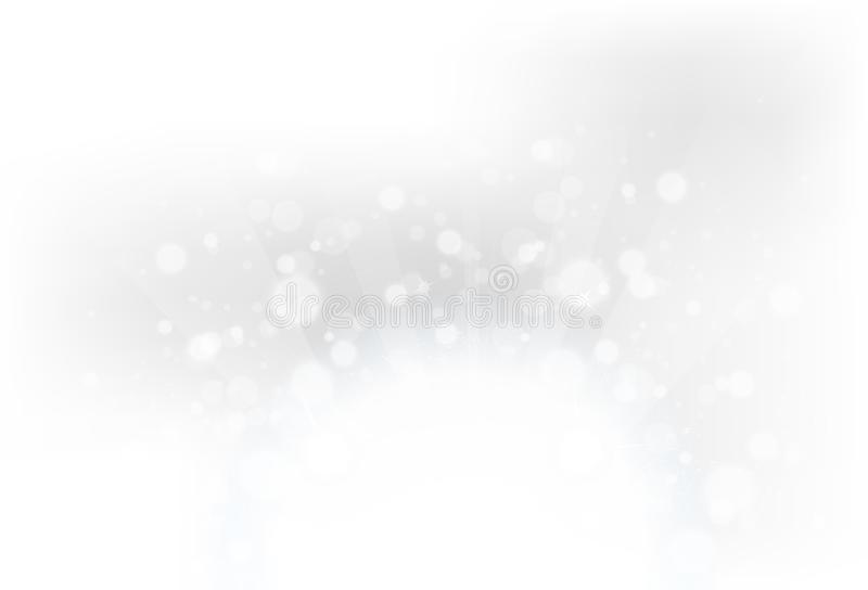 Fantasy magical silver bokeh blurry scatter with stars burst exp royalty free illustration