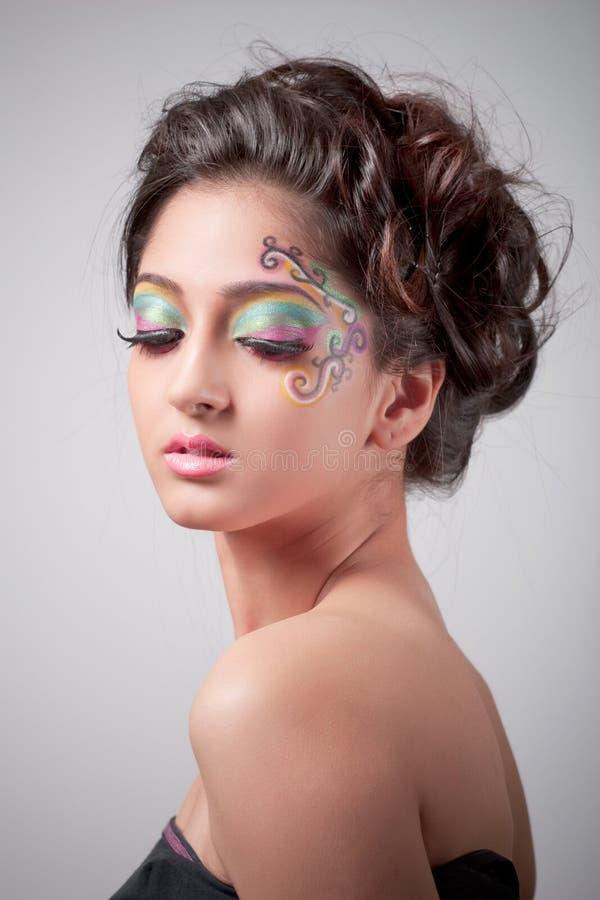 Fantasy makeup stock images