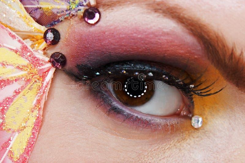 Fantasy makeup stock image