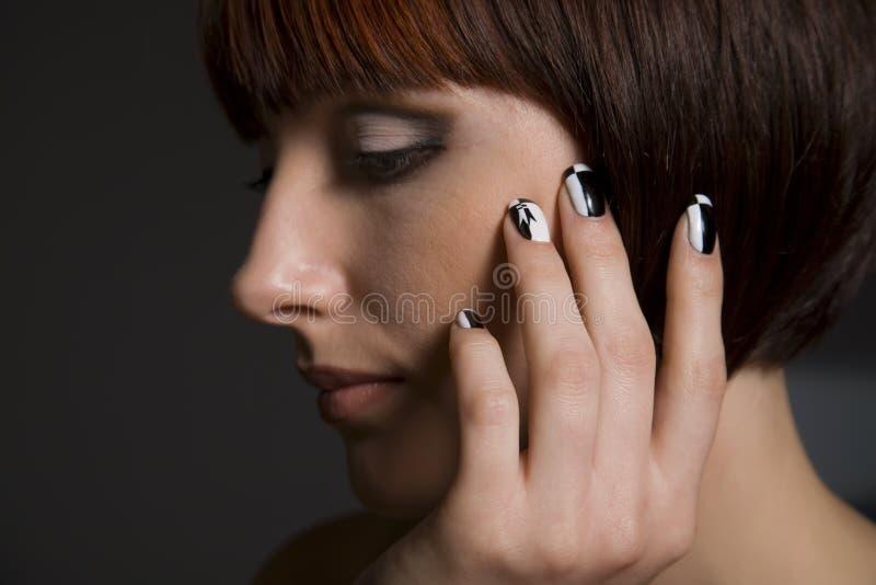 Fantasy manicure royalty free stock image