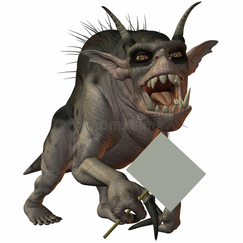 Fantasy Monster. Illustration of an 3D Fantasy Monster royalty free illustration