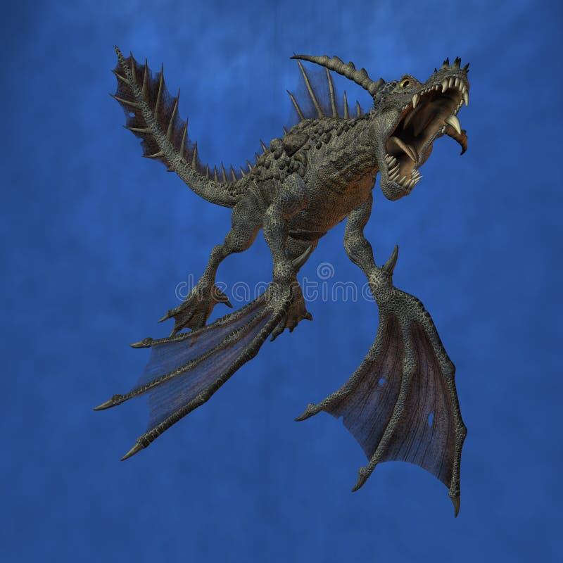 Fantasy Monster. 3D Render of an Fantasy Monster stock illustration