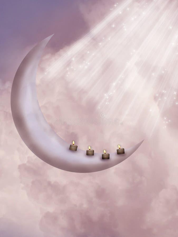 Fantasy moon stock illustration