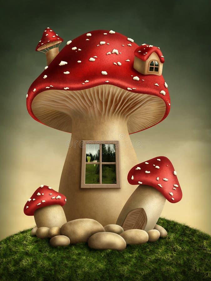 Fantasy mushroom house royalty free illustration