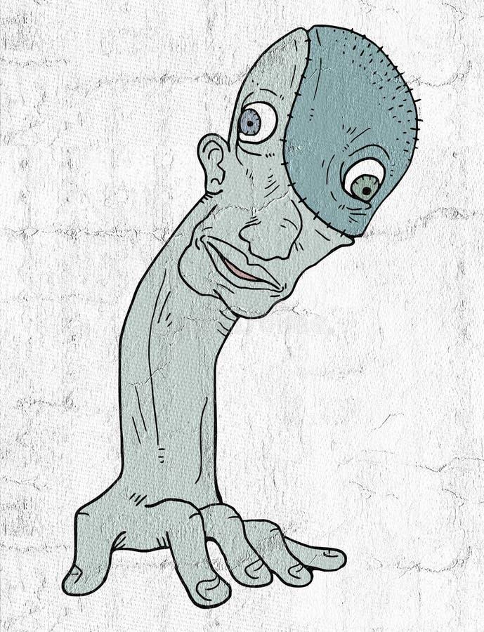 Fantasy mutant. Creative design of fantasy mutant vector illustration