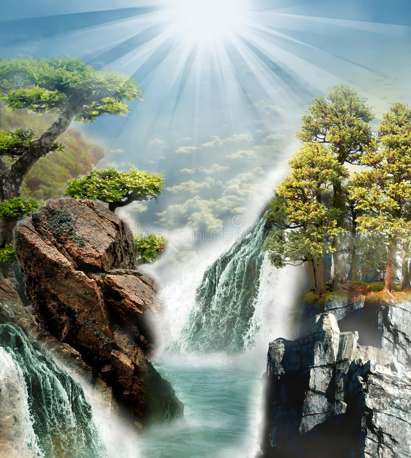 Download Fantasy nature stock image. Image of watterfall, mysterious - 42461259