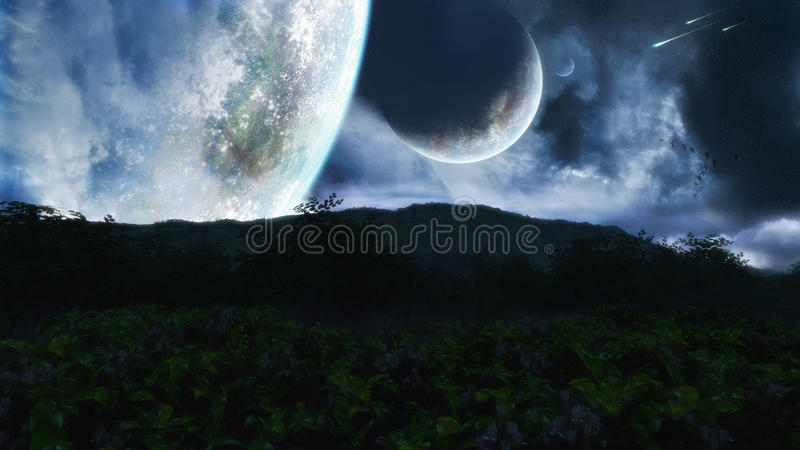 Fantasy Night Scenery stock photos