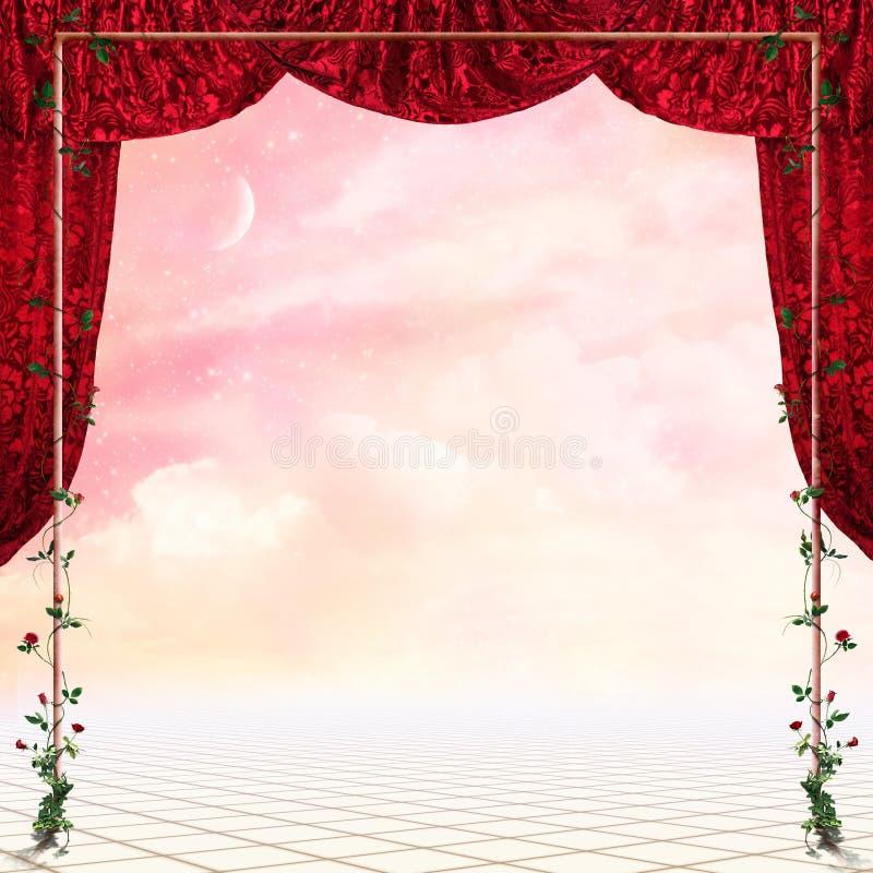 Download Fantasy place stock illustration. Illustration of flowers - 10722214