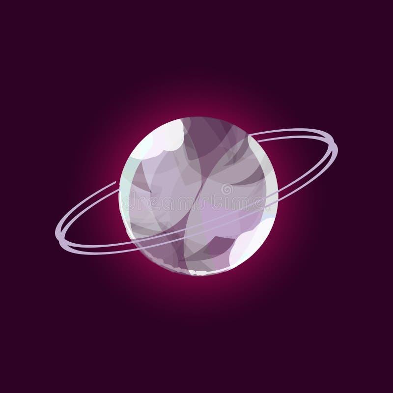 Fantasy planet logo vector illustration