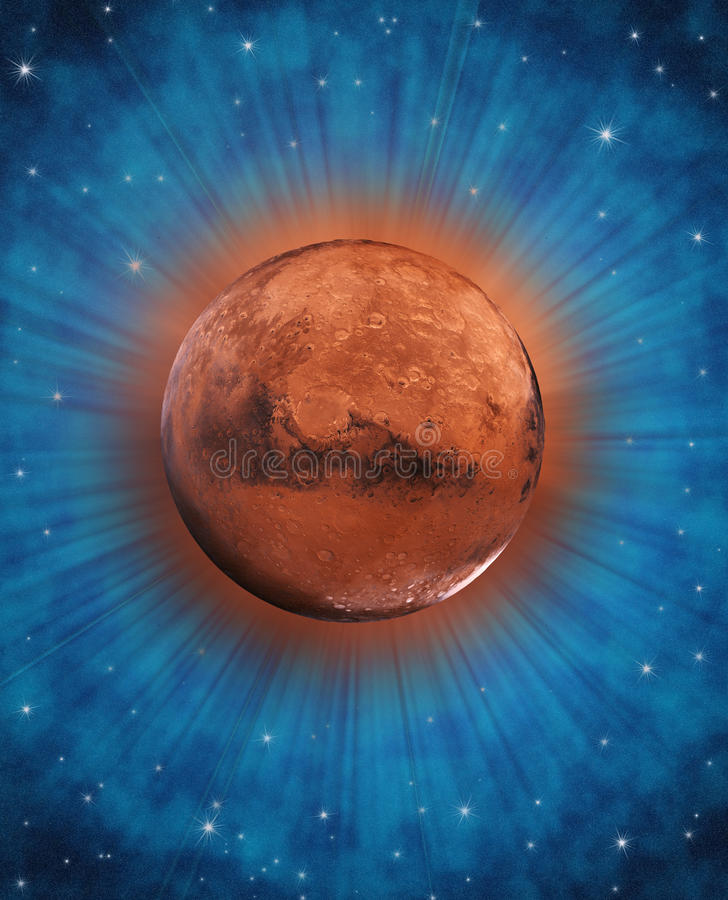 Download Fantasy Mars Planet In Space Stock Illustration - Image: 22672364