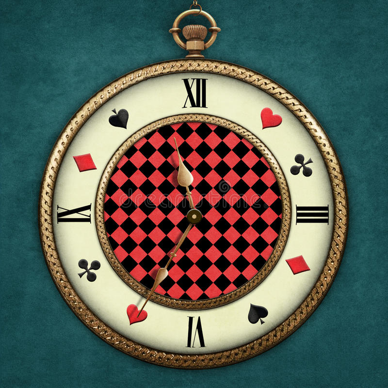 Fantasy Pocket Watch. Fantasy illustration with a pocket watch Wonderland Computer graphics royalty free illustration