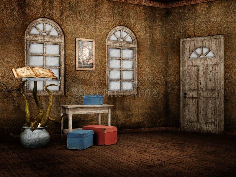 Download Fantasy retro room stock illustration. Image of retro - 25510197