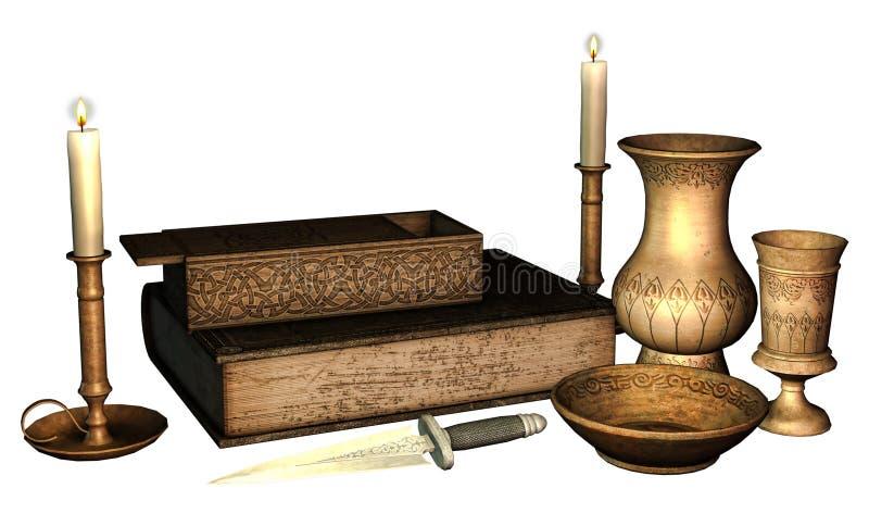 Fantasy ritual objects royalty free illustration