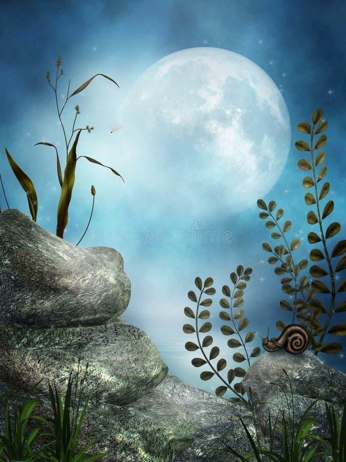 Download Fantasy rocks stock illustration. Image of moon, colorful - 20963145