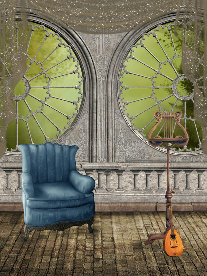 Fantasy Room royalty free illustration