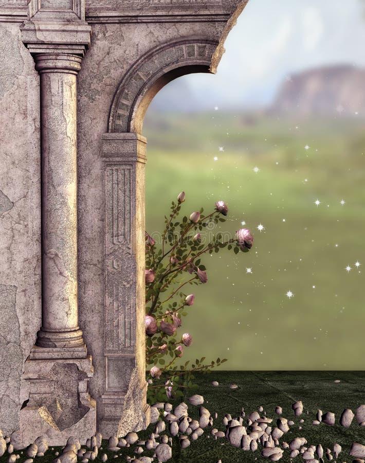 Download Fantasy Ruins stock illustration. Image of nature, ruins - 40479124