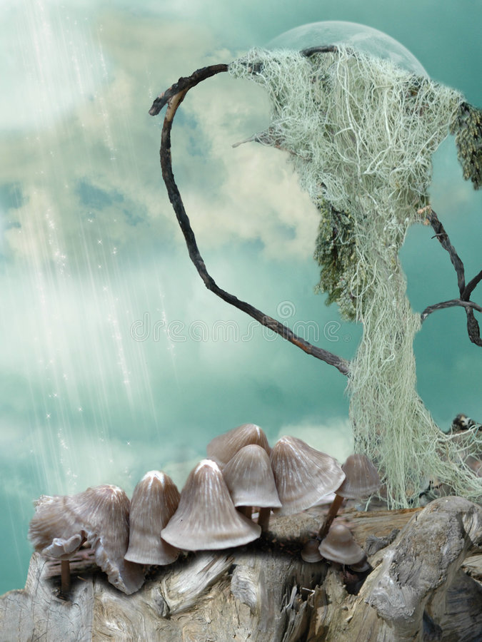 Download Fantasy scene stock photo. Image of branch, cloud, fairytale - 9325144