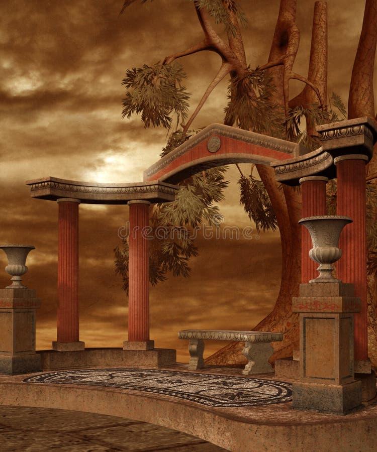 Download Fantasy scenery 20 stock illustration. Illustration of temple - 8905538