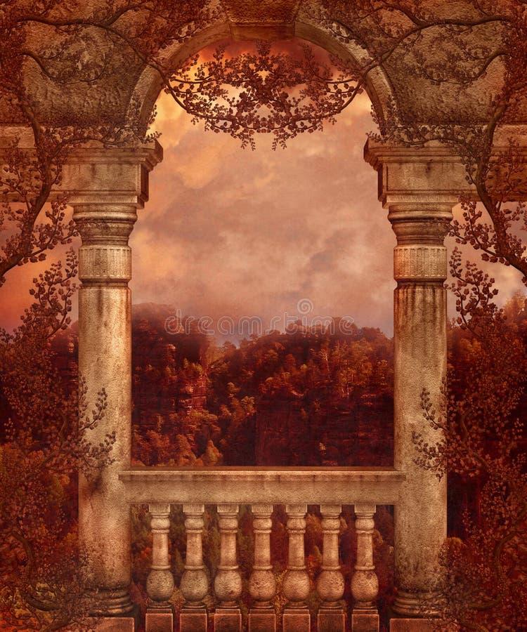 Fantasy scenery 79 vector illustration