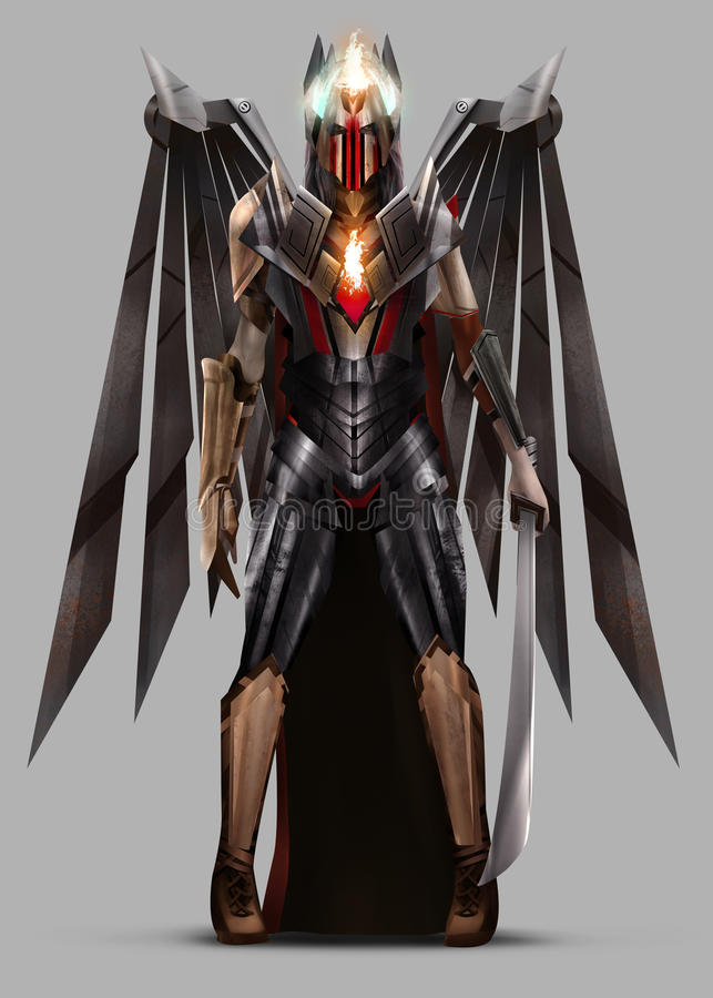 Free Fantasy Sci-fi Angel Warrior Character. Royalty Free Stock Images - 45883989