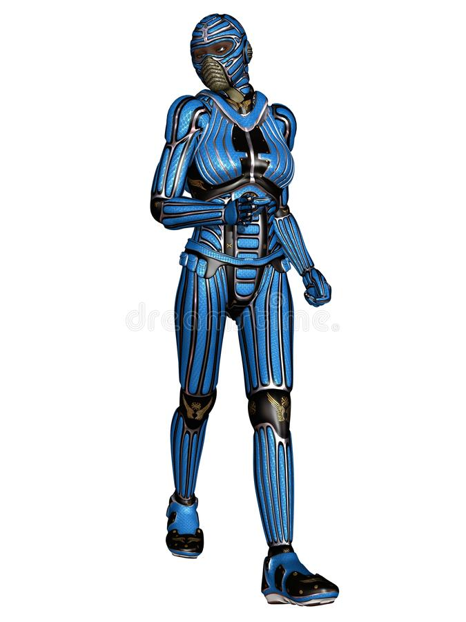 Fantasy Science Fiction Armour. 3d render of a fantasy science fiction armour vector illustration