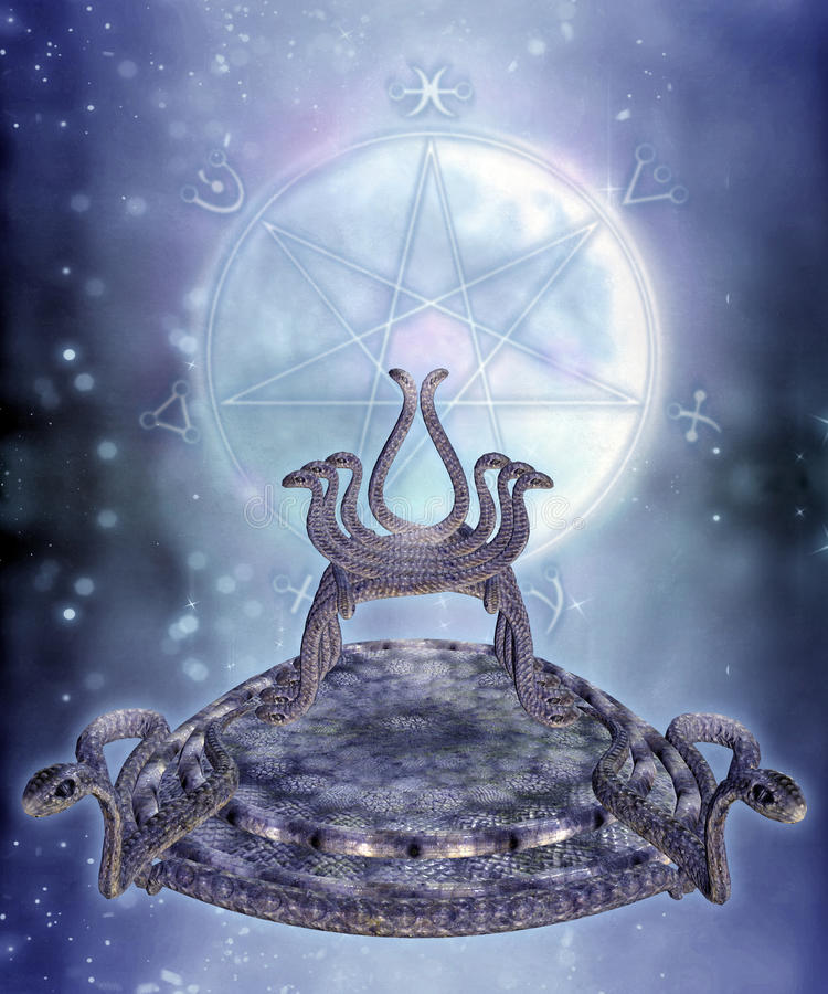Download Fantasy serpent throne stock illustration. Image of serpent - 12125022
