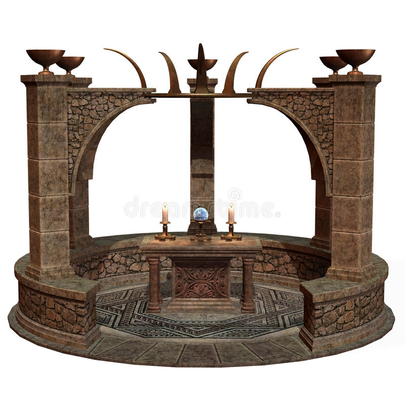 Download Fantasy Shrine With Altar Stock Photos - Image: 19358713