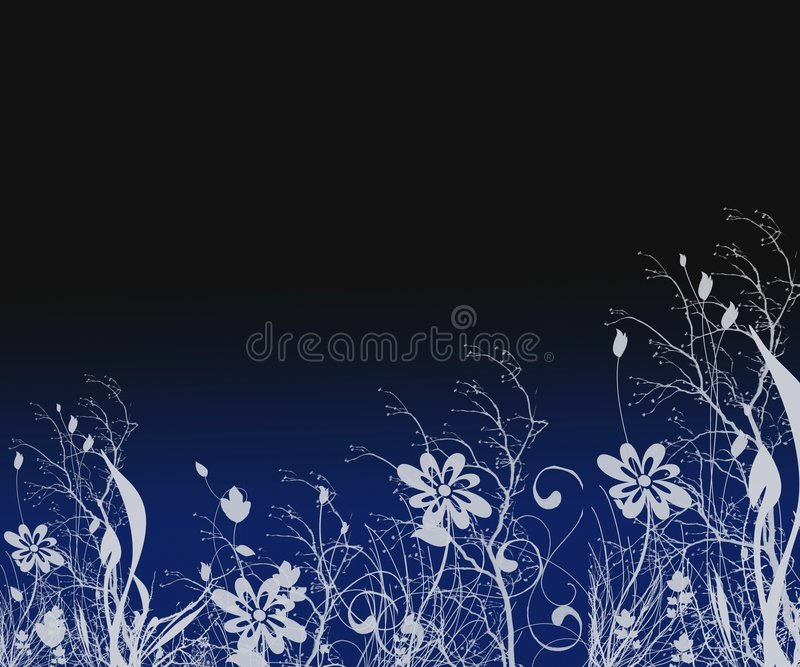 Fantasy Silhouette Background stock illustration