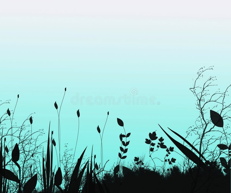 Fantasy Silhouette Background royalty free illustration