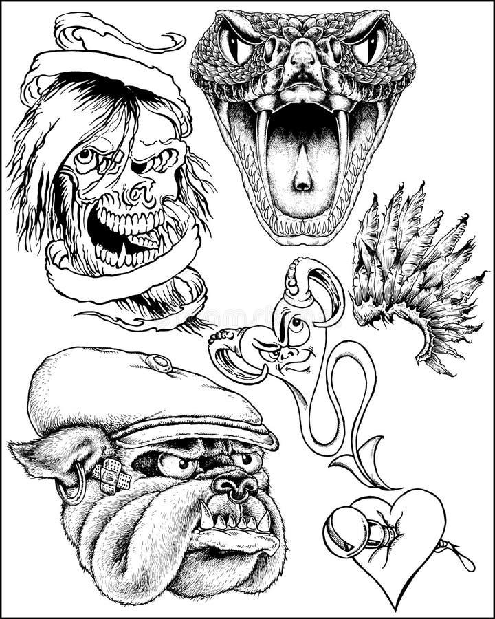 Download Fantasy art sketches stock vector. Image of snake, design - 17048190