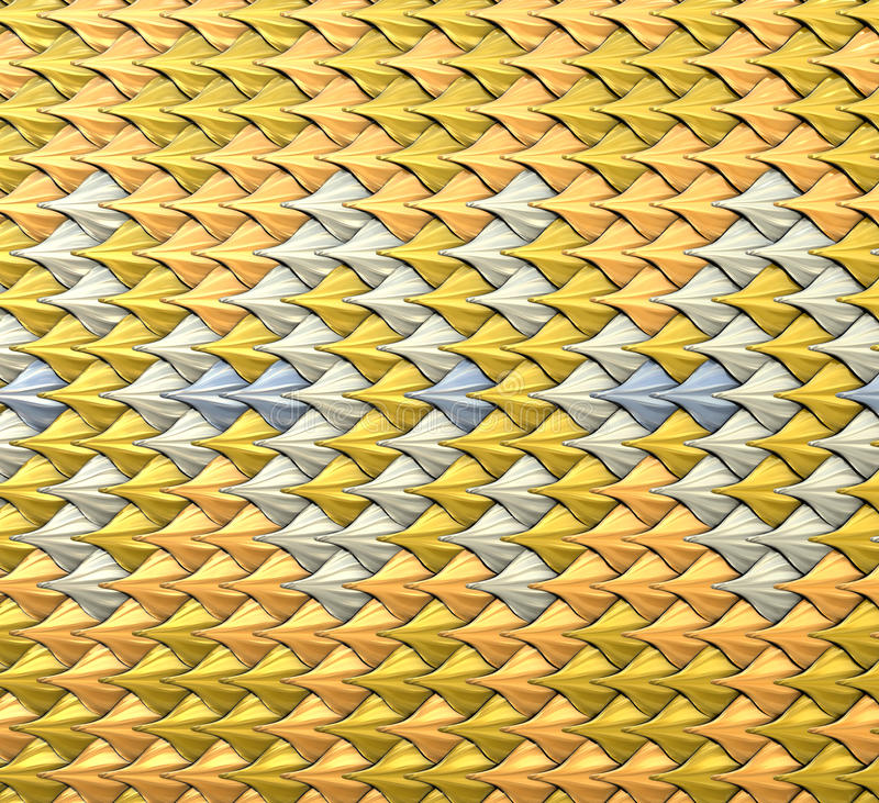 Fantasy squama,scales background. Fantasy metallic squama. Abstract background or texture. 3d illustration royalty free illustration
