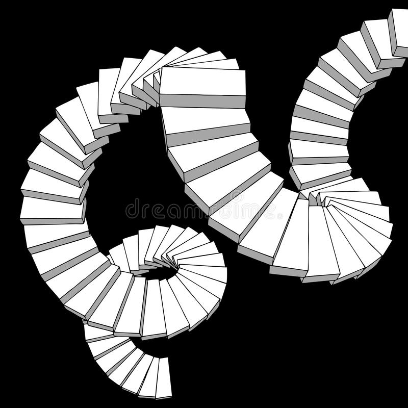 Fantasy stairs. Vector design of fantasy stairs stock illustration