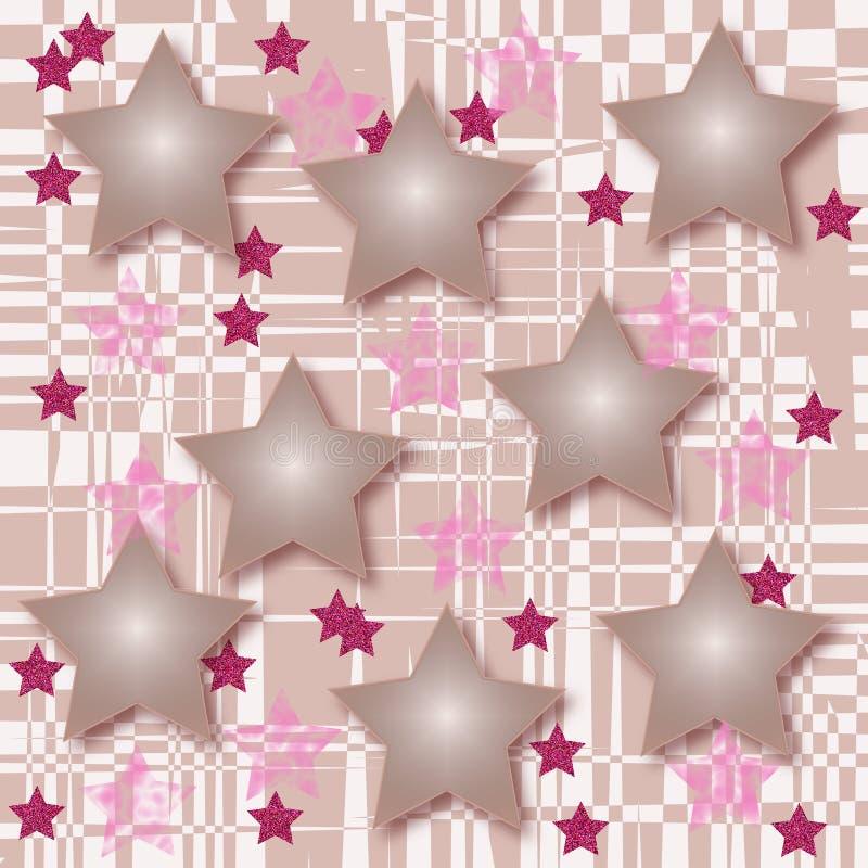 Fantasy of stars. romantic decoration stock illustration