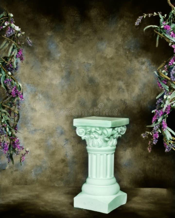 Fantasy Studio Set (Insert Isolated Client). Fantasy Studio Set Green Floral Pillar royalty free stock photos