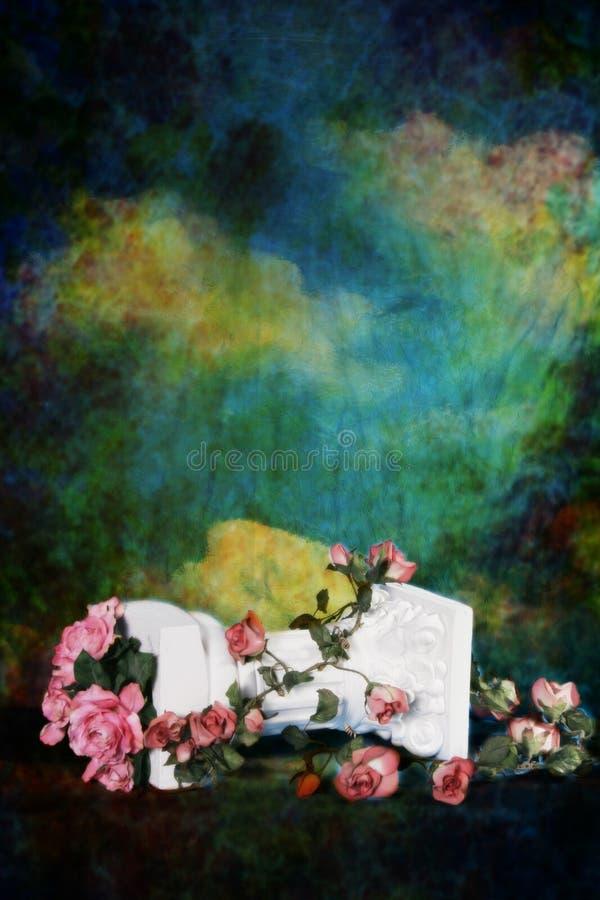 Fantasy Studio Set (Insert Isolated Client). Fantasy Studio Set Roses and Pillar royalty free stock image