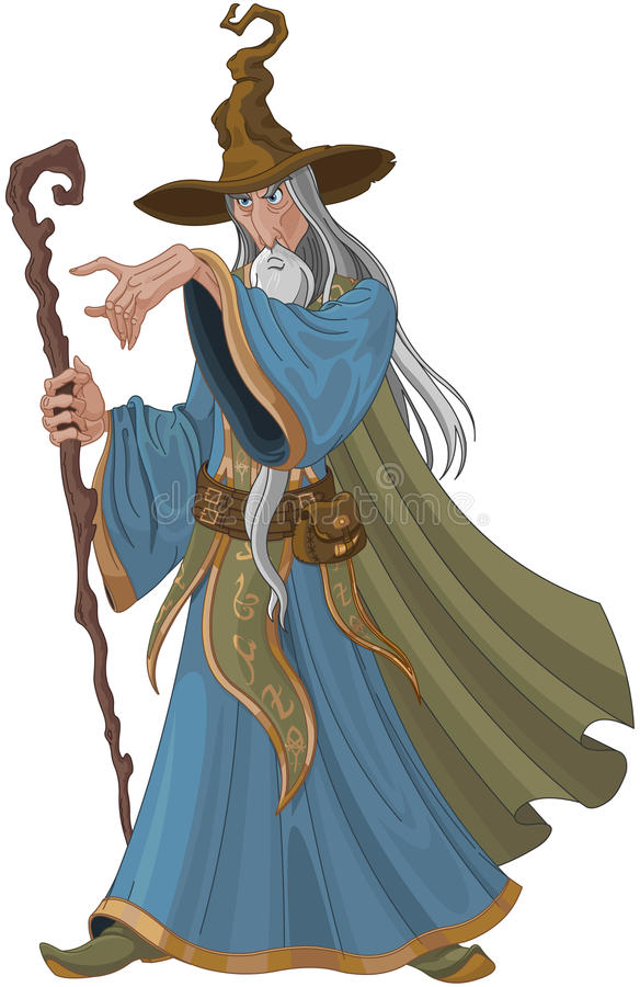 Fantasy Style Wizard royalty free illustration