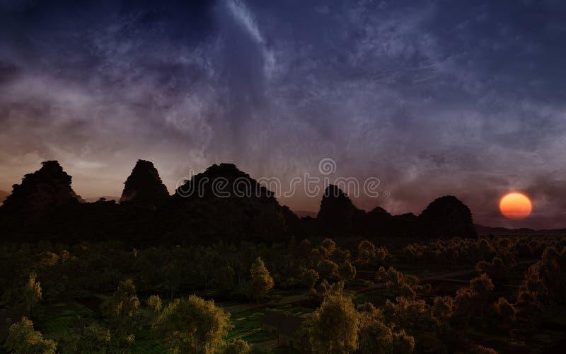 Fantasy Sunset royalty free stock image