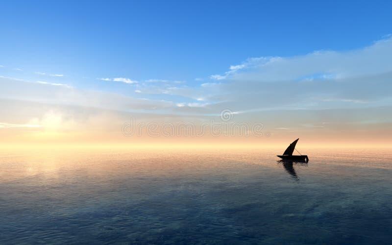 Fantasy Sunset Sailing stock photos
