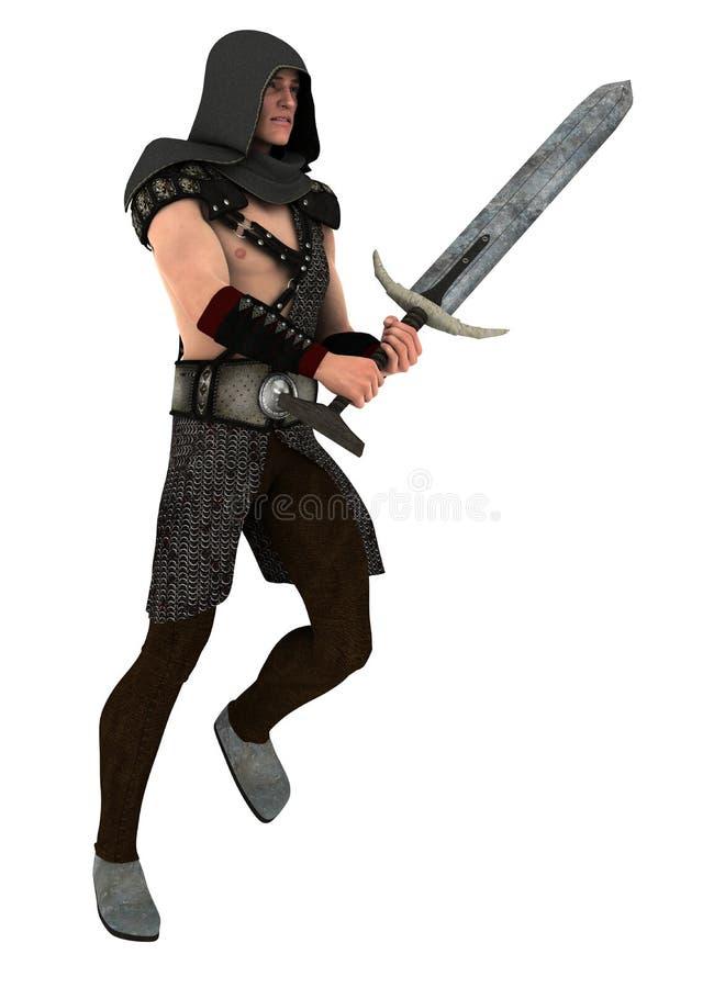 Fantasy sword guard royalty free illustration