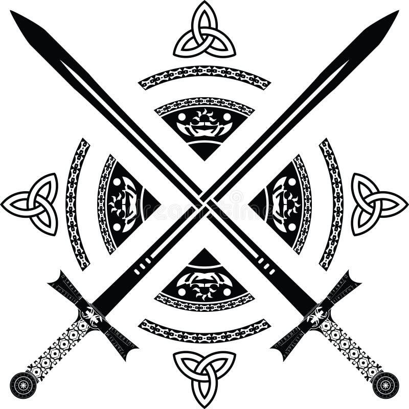 Download Fantasy swords stock vector. Illustration of british - 17436236