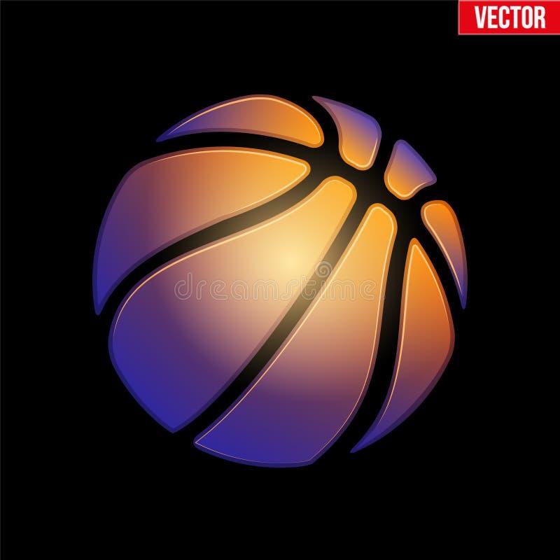 Fantasy Symbol Basketball Ball Stock Vector Illustration Of