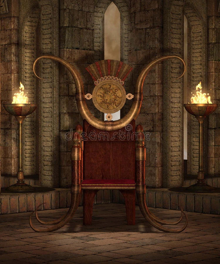 Download Fantasy temple 6 stock illustration. Image of throne - 12392696