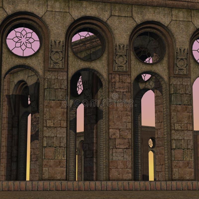 Free Fantasy Temple At Dawn Royalty Free Stock Image - 17984746