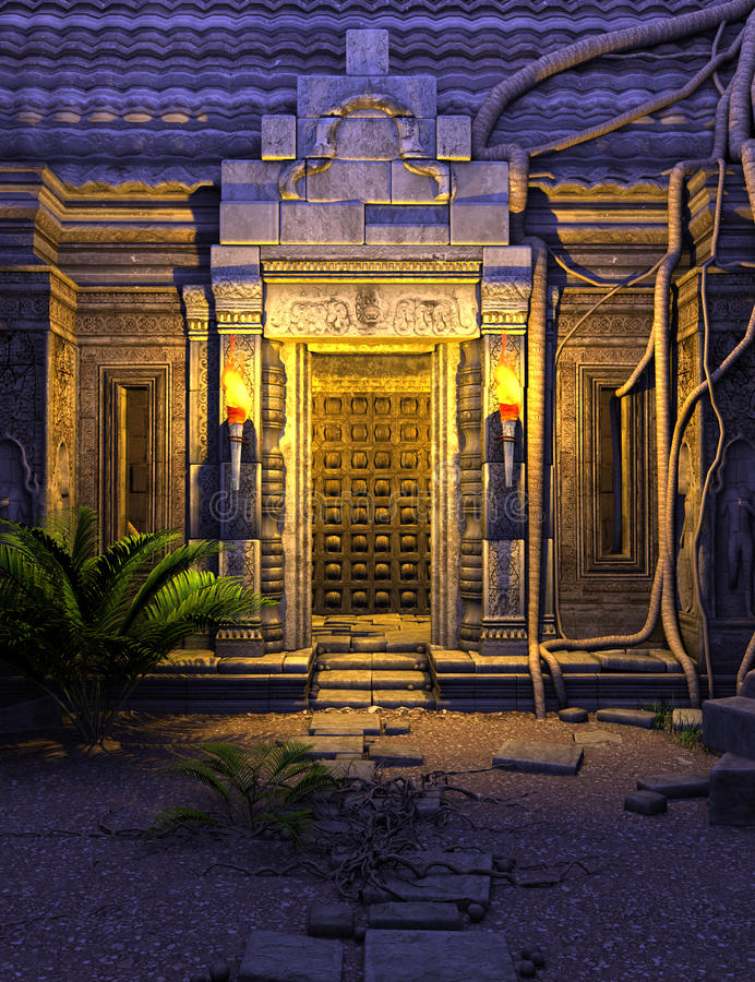 Free Fantasy Temple Gate Royalty Free Stock Images - 35054889