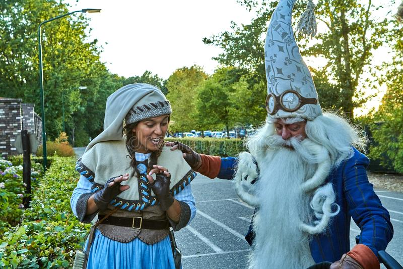 Fantasy themed amusement park Efteling. Fairy tale characters stock photo