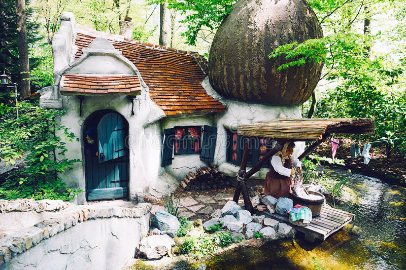 Fantasy themed park Efteling in Netherlands. royalty free stock image