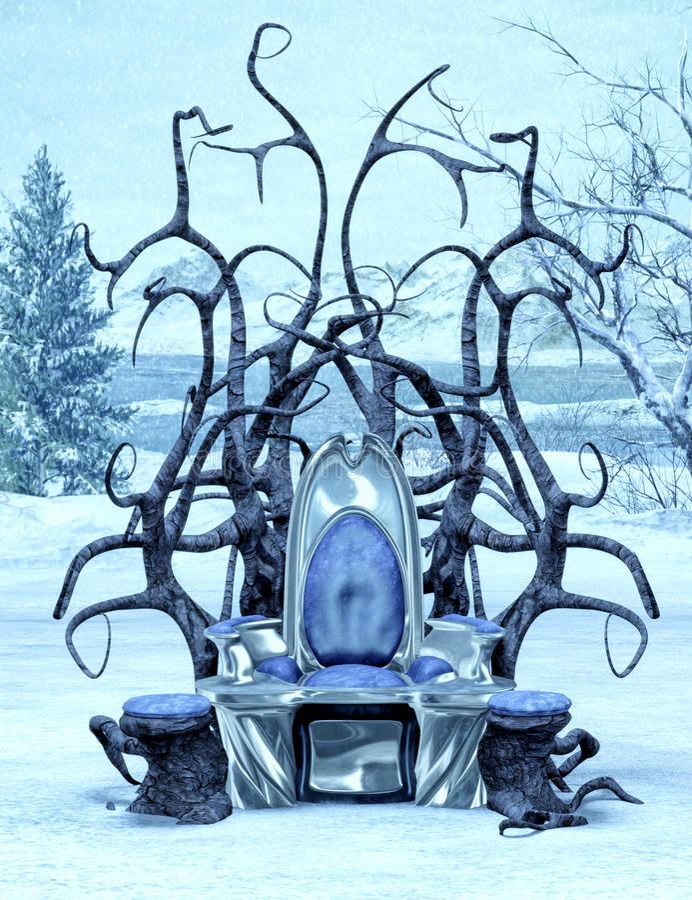 Fantasy throne stock illustration