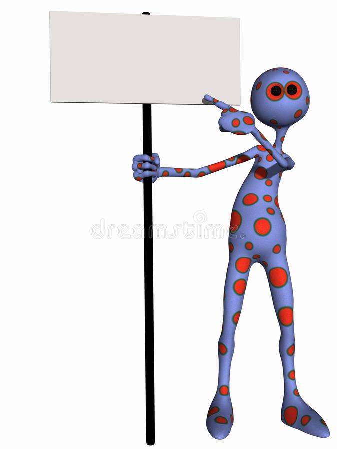 Download Fantasy Toon Figure With Sign Stock Illustration - Illustration of illustration, body: 14657323