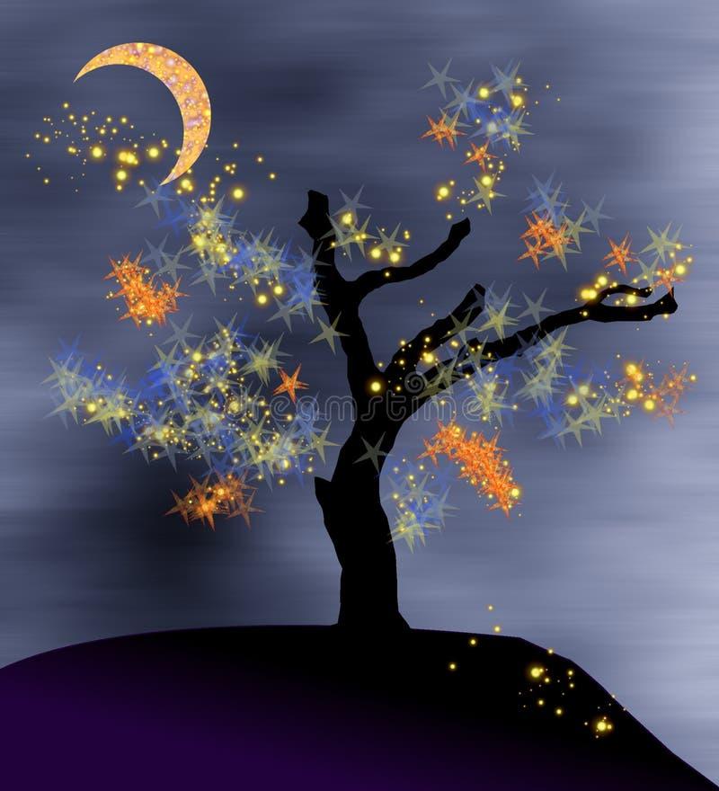 Fantasy tree stock illustration