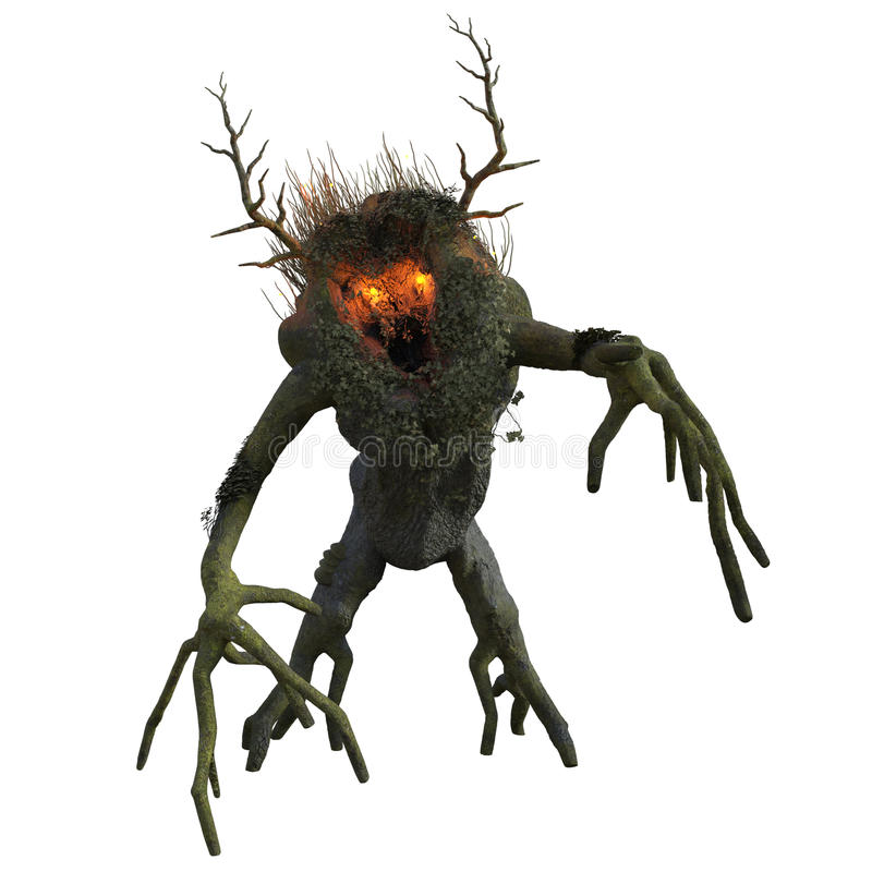 Download Fantasy tree ent stock illustration. Image of creature - 82609351